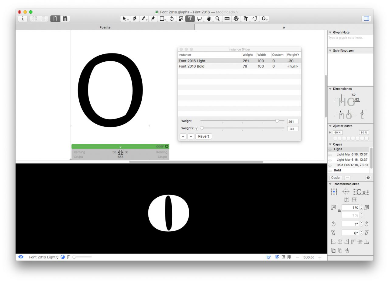 interpolation | Glyphs Extensions